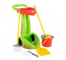 Набор детский для уборки   Чистюля-2  (6 элементов) (в сеточке) арт. 70265. Полесье