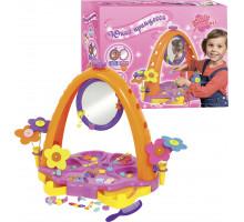 Настольный игровой комплекс для девочек с украшениями и парикмахерскими принадлежностями Юная принцесса (зеркало с подсветкой)  (в коробке) арт. 4083. Полесье