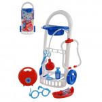 Детский набор Доктор №11 с тележкой и аксессуарами (8 элементов) арт. 69856. Полесье