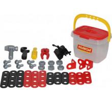 Детский игровой набор Механик, (32 элемента) (в ведёрке) арт. 56603. Полесье