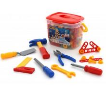 Игровой набор инструментов №3 (132 элемента) (в ведёрке) арт. 47175. Полесье