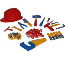 Детский игровой набор инструментов №8 (74 элемента) (в сеточке) арт. 53718. Полесье