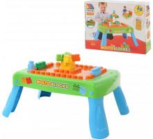 Набор игровой с конструктором (20 элементов) в коробке (зелёный) с элементом вращения арт. 57990. Полесье