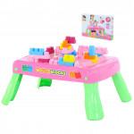 Набор игровой с конструктором (20 элементов) в коробке (розовый) арт. 58003. Полесье