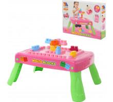 Набор игровой с конструктором (20 элементов) в коробке (розовый) с элементом вращения арт. 58010. Полесье