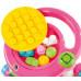 Каталка игровая (ходунки) с конструктором (13 элементов) в коробке (цвет розовый) арт. 58140. Полесье в Минске