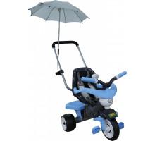 """Детская игрушка велосипед 3-х колесный """"Амиго"""" с ограждением, клаксоном, ручкой, ремешком, мягким сиденьем и зонтико арт. 46895. Полесье"""