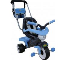 """Велосипед детский трехколесный """"Амиго №2"""" с ограждением, ручкой, ремешком, мягким сиденьем и сумкой арт. 46673. Полесье"""