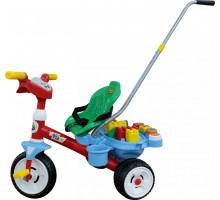 """Детский трехколесный  велосипед """"Беби Трайк"""" с ручкой, звуковым сигналом и ремешком + Набор (11 элементов) арт. 46796. Полесье"""