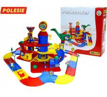 Детский паркинг 3-уровневый с дорогой и автомобилями (в коробке) арт. 37862. Полесье