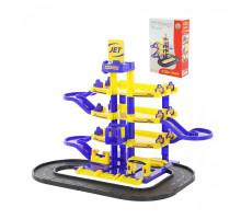 """Детский паркинг  """"JET"""" 4-уровневый с дорогой (в коробке) арт. 40220. Полесье"""
