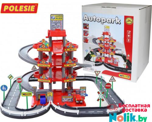 Детская игрушка паркинг  4-уровневый с дорогой и автомобилями (красный) (в коробке) арт. 44723. Полесье в Минске