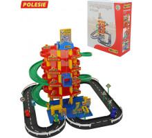 Детский гараж паркинг  5-уровневый с дорогой и автомобилями (в коробке) арт. 38104. Полесье
