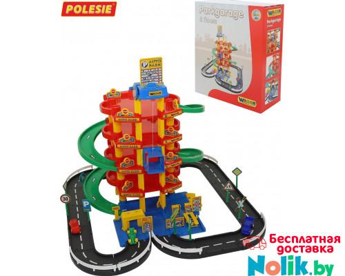 Детский гараж паркинг  5-уровневый с дорогой и автомобилями (в коробке) арт. 38104. Полесье в Минске