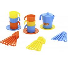 Детский набор посуды  Анюта  на 6 персон арт. 3858. Полесье