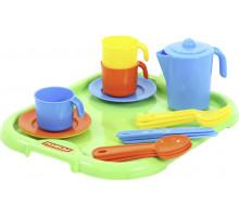 Игровой набор посуды  Анюта  с подносом на 3 персоны арт. 3872. Полесье