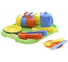 Посуда детская  Анюта  с подносом на 6 персон арт. 3896. Полесье