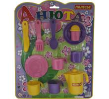 Детская посуда Анюта  на 4 персоны (в блистере) арт. 35943. Полесье