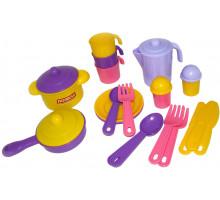 Детский набор посуды  Настенька  на 3 персоны арт. 3919. Полесье