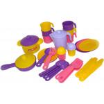 Игровой набор детской посуды  Настенька  на 6 персон арт. 3933. Полесье