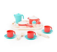 Набор детской посуды  Настенька  с подносом на 3 персоны арт. 3957. Полесье