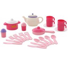 Детский набор посуды  Настенька  на 4 персоны (28 элементов) (в сеточке) арт. 59017. Полесье