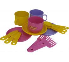 Набор детской посуды  Минутка  на 3 персоны арт. 9561. Полесье
