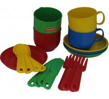 Игровой набор посуды  Минутка  на 4 персоны арт. 9578. Полесье