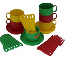 Игровой набор детской посуды  Минутка  на 6 персон арт. 9585. Полесье