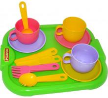 Набор детской посуды  Минутка  с подносом на 3 персоны арт. 9523. Полесье