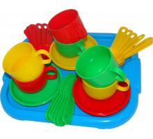 Детская посуда  Минутка  с подносом на 6 персон арт. 9547. Полесье