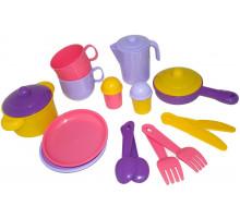 Детский набор посуды  Хозяюшка  на 2 персоны арт. 3988. Полесье