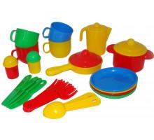 Игровой набор детской посуды  Хозяюшка  на 4 персоны арт. 4008. Полесье