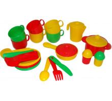 Детская посуда  Хозяюшка  на 6 персон арт. 4015. Полесье