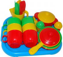 Посуда детская  Хозяюшка  с подносом на 6 персон арт. 4022. Полесье