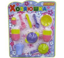 Набор детской посуды  Хозяюшка  на 4 персоны (в блистере) арт. 35950. Полесье