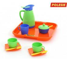 Игровой набор посуды  Алиса  с подносом на 2 персоны арт. 40572. Полесье