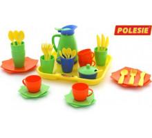 Детский набор посуды  Алиса  с подносом на 4 персоны арт. 40640. Полесье
