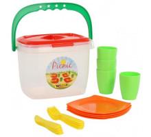 Игровой набор детской посуды  Алиса  для пикника №1 арт. 40756. Полесье