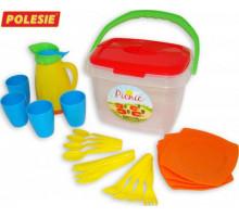 Игровой набор посуды  Алиса  для пикника №2 арт. 40763. Полесье