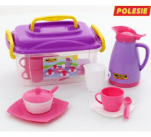 Набор детской посуды  Алиса  на 4 персоны (в контейнере) арт. 53480. Полесье