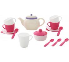 Детский набор посуды  Алиса  на 4 персоны (18 элементов) (в сеточке) арт. 58966. Полесье