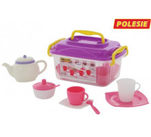 Игровой набор посуды  Алиса  на 4 персоны (19 элементов) (в контейнере) арт. 58980. Полесье