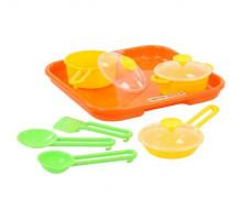 Игровой набор детской посуды  Поварёнок №1  с подносом арт. 40732. Полесье