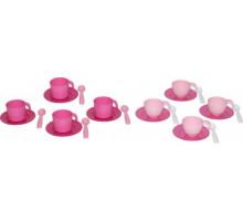 Детский набор посуды на 4 персоны (в сеточке) (микс №2) арт. 56047. Полесье