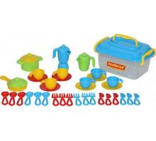 Игровой набор посуды на 6 персон (38 элементов) (в контейнере) арт. 56597. Полесье