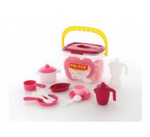 Детская посуда на 4 персоны (29 элементов) (в ведёрке) арт. 56573. Полесье