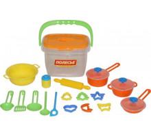 Набор детской посуды (20 элементов) (в ведёрке) арт. 56627. Полесье