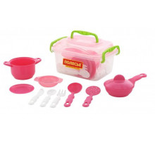 Набор детской посуды (35 элементов) (в контейнере) арт. 56641. Полесье