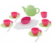 Детская посуда на 4 персоны (17 элементов) (в сеточке) арт. 61393. Полесье